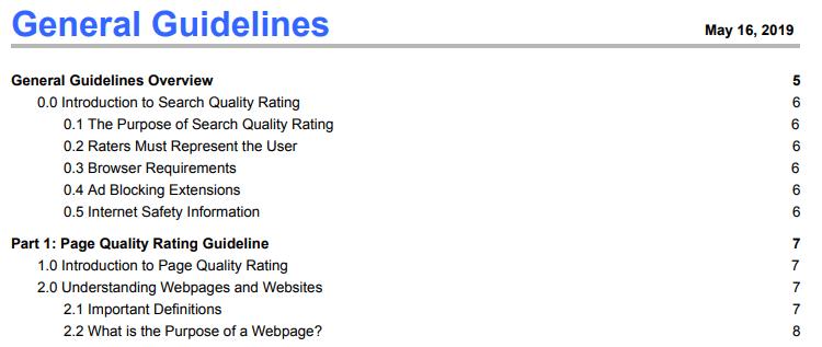 General Guidelines [Google検索品質評価ガイドライン]